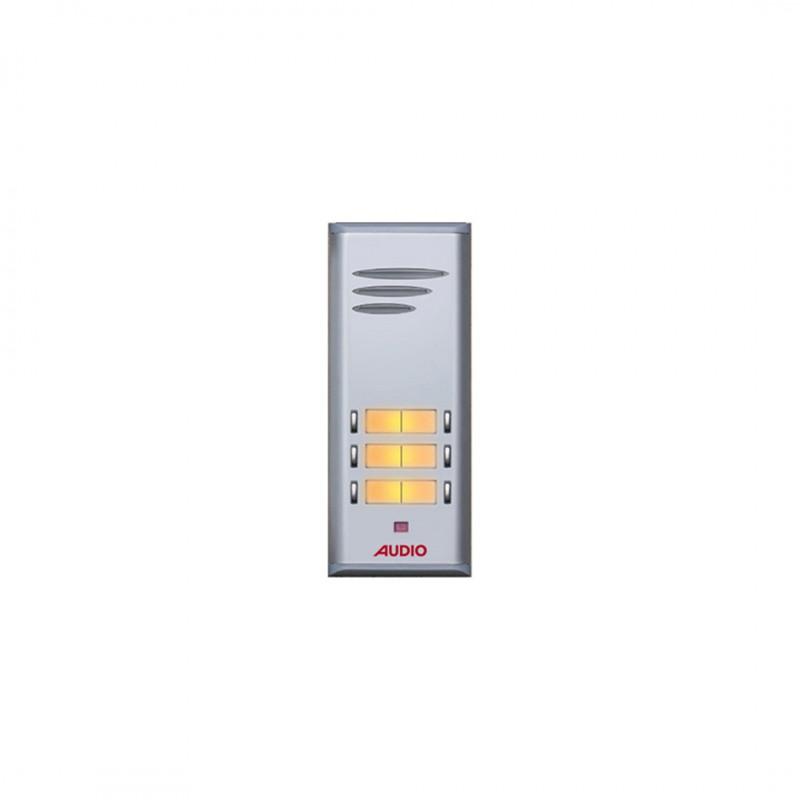 Audio 004849E06 Basıc-6 Çift Butonlu Hop.Lü Zil Paneli