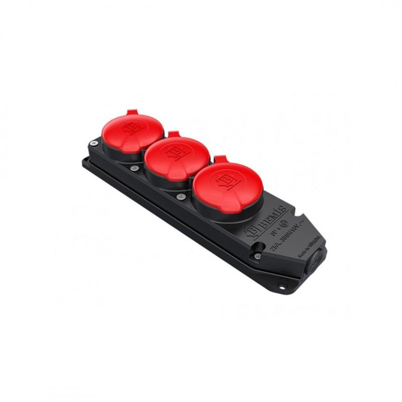 Bemis BK6-2504-4615 3X25A Kauçuk Üçlü Grup Priz