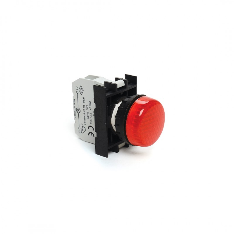 Emas B060XK Sinyal Lambası Kırmızı Led 12-30Vac/Dc