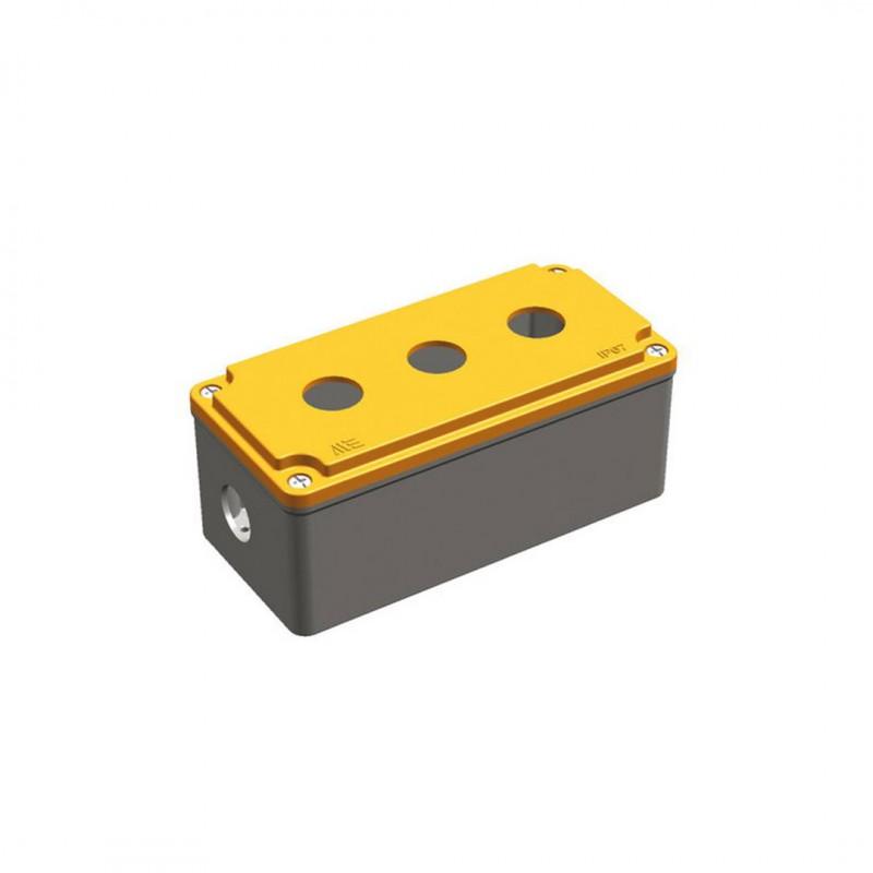 Mete Enerji 402620 Alüminyum Buton Kutusu (Üçlü) Ip67