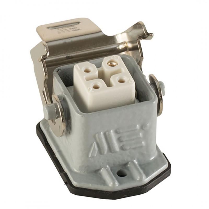 Mete Enerji 403273S 4x10 Amper Çoklu Makine Prizi Metal Mandallı (Arka Girişli)