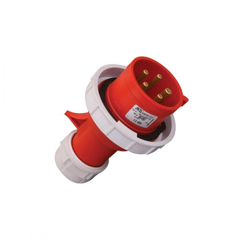 Mete Enerji 406112V 5x32 Amper Düz Fiş (CEE Norm) Ip67 (Vidalı Bağlantı)