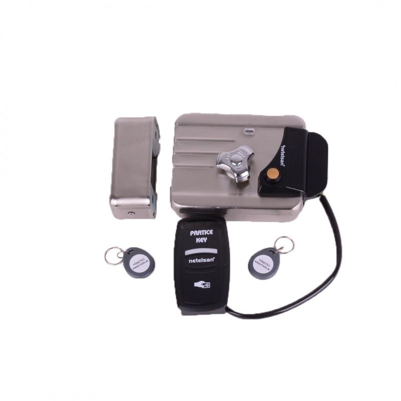 Netelsan MUAKK00001 Elektro Mekanik Kilit (Akıllı Kilit Paketi) Gümüş