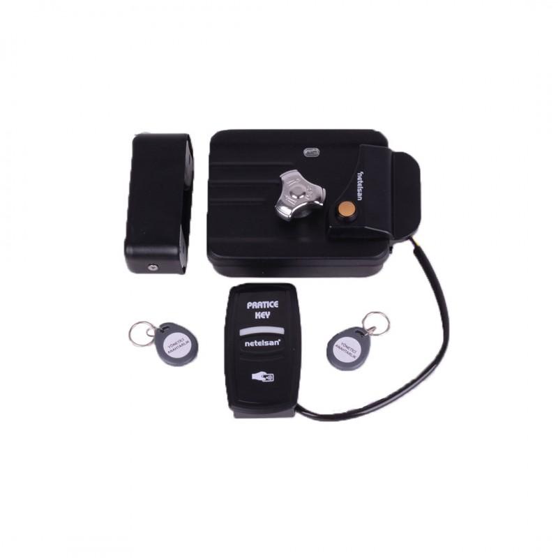 Netelsan MUAKK00002 Elektro Mekanik Kilit (Akıllı Kilit Paketi) Siyah