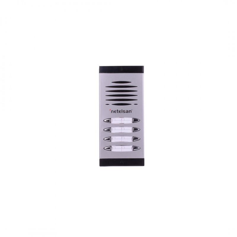 Netelsan MUDIA00063 Dıafon Çift Sıra Zil Paneli 3-4 Buton