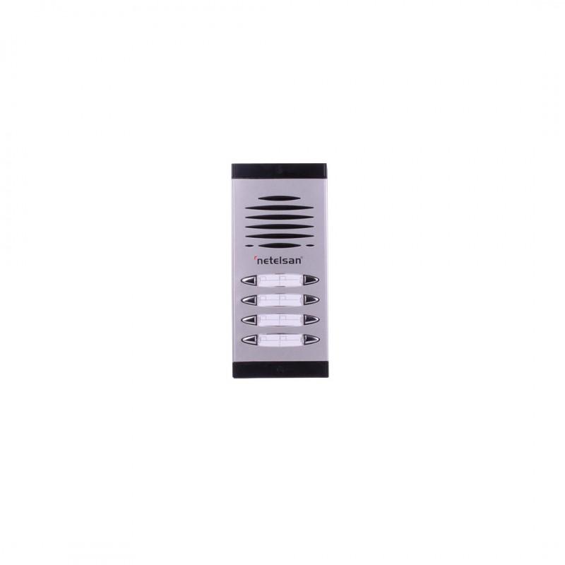 Netelsan MUDIA00064 Dıafon Çift Sıra Zil Paneli 5-6 Buton