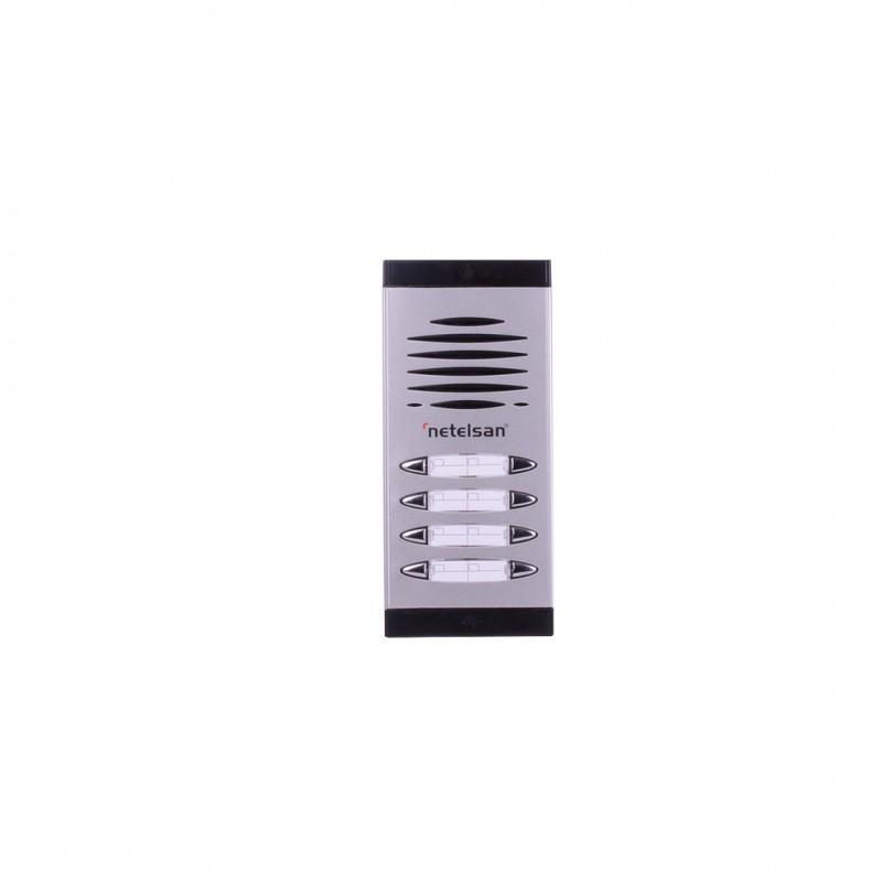 Netelsan MUDIA00066 Dıafon Çift Sıra Zil Paneli 9-10 Buton